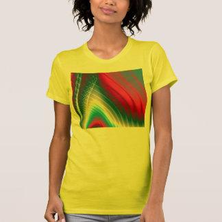 Camiseta amarilla de la moda de las señoras del fr