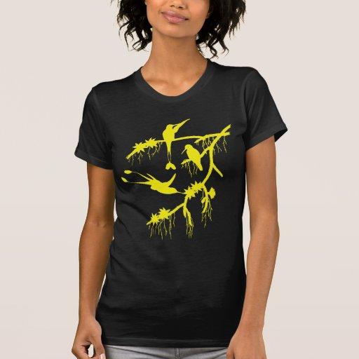 camiseta amarilla de los colibríes