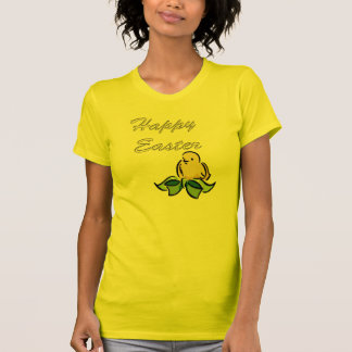 Camiseta amarilla de Pascua del polluelo Playera