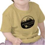 Camiseta amarilla del arte de la snowboard del beb