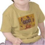 ¡Camiseta amarilla del bebé de las correhuelas
