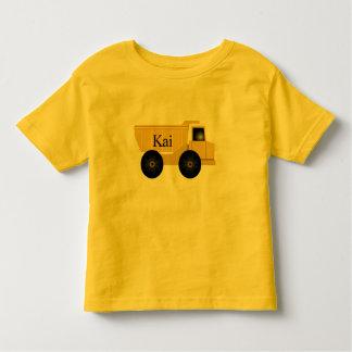 Camiseta amarilla del camión volquete de Kai