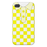 Camiseta amarilla del iphone iPhone 4/4S carcasa