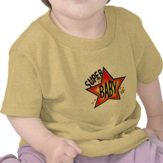 Camiseta amarilla infantil del bebé de la estrella