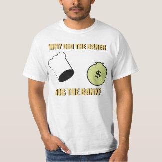 Camiseta amasada del chiste de la pasta playera