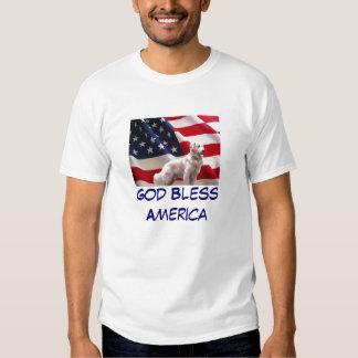 Camiseta América de Todler del golden retriever Polera