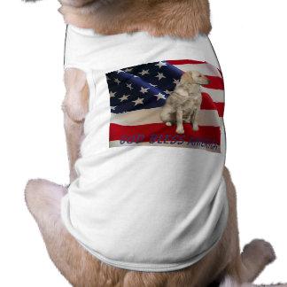 Camiseta América del perro de Labrador Retriver Playera Sin Mangas Para Perro