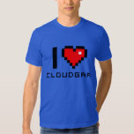 Camiseta American Apparel I love CLOUDGAR Playeras
