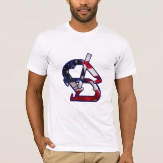 Camiseta americana básica de la ropa de las