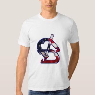Camiseta americana básica de la ropa de las playeras