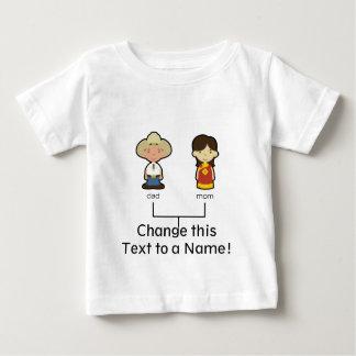 ¡Camiseta americana/china de la familia del bebé - Playeras