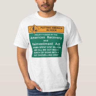 Camiseta americana de la recuperación - Barack Camisas