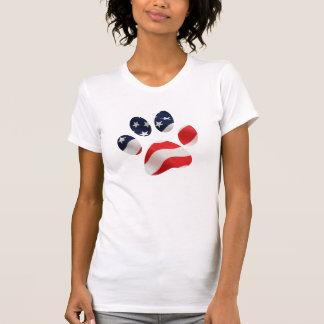 Camiseta americana de las mujeres blancas de la im