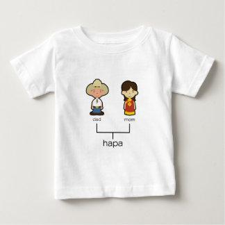 Camiseta americana/del chino de Hapa del bebé de Remera