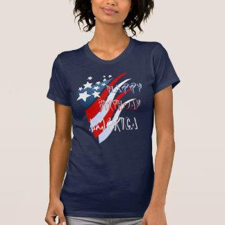 Camiseta americana del cumpleaños playeras