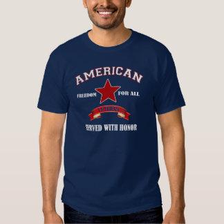Camiseta americana del día de veteranos del poleras