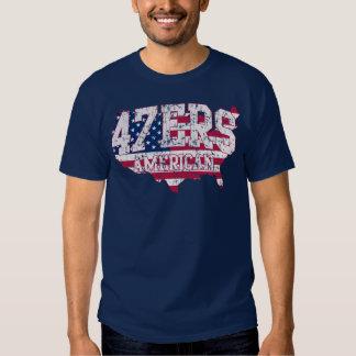 Camiseta americana del discurso de 47ers el 47% remeras