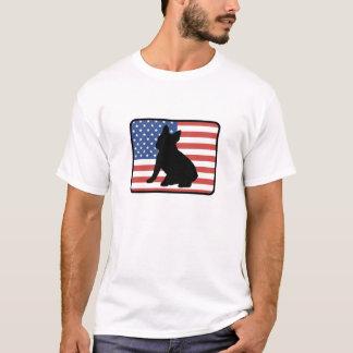 Camiseta americana del dogo francés