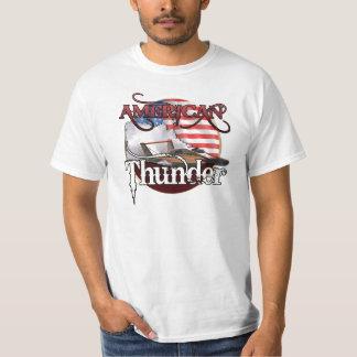 Camiseta americana del hidroavión del trueno remera