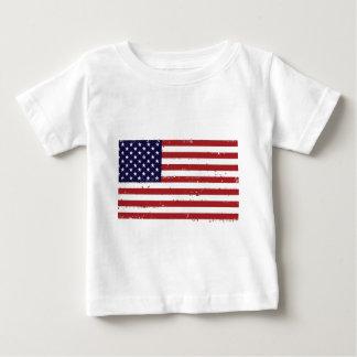 Camiseta americana del niño de la bandera