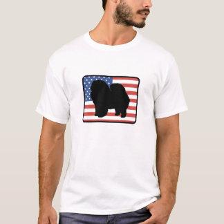 Camiseta americana del perro chino de perro chino