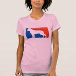 Camiseta americana del perro de la primera