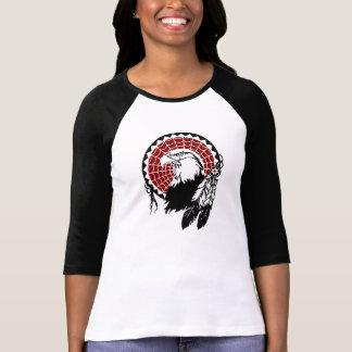 Camiseta americana del raglán de Eagle Playera