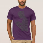 Camiseta americana del rezo (berenjena)