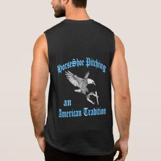 Camiseta americana Sin mangas-Uno negra de la Playera Sin Mangas