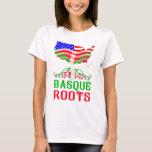 Camiseta americana vasca de las raíces