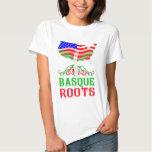 Camiseta americana vasca de las raíces camisas