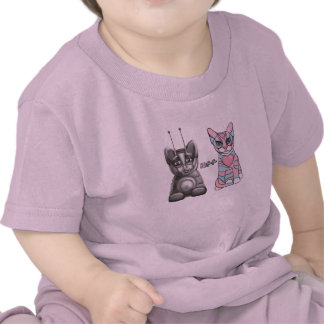 Camiseta amistosa de los gatos