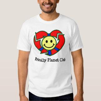 Camiseta amistosa del club del planeta de los remeras