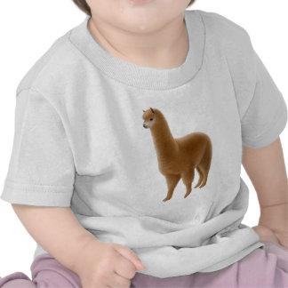 Camiseta amistosa del niño de la alpaca de Brown