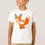Camiseta amistosa linda de los niños del Fox del Polera