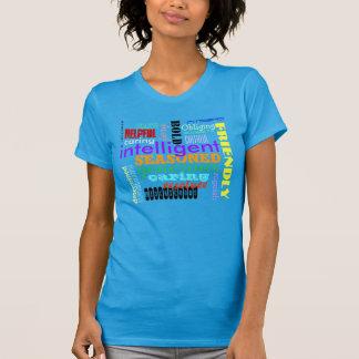 Camiseta amistosa valerosa valiente inteligente de playeras