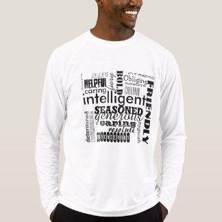Camiseta amistosa valerosa valiente inteligente de poleras
