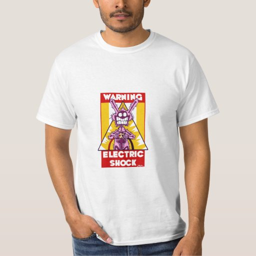 Camiseta amonestadora de la descarga eléctrica playera