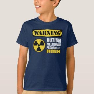 Camiseta amonestadora de la fusión del autismo