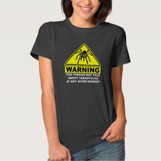 Camiseta amonestadora del Tarantula (negro) Playera