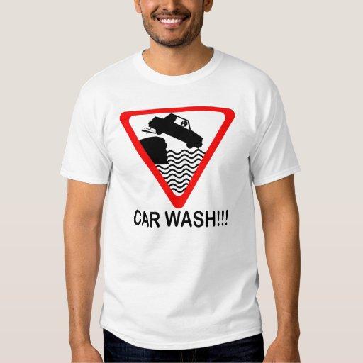 Camiseta amonestadora del túnel de lavado playeras