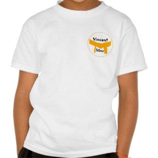 Camiseta anaranjada de encargo de la correa de los
