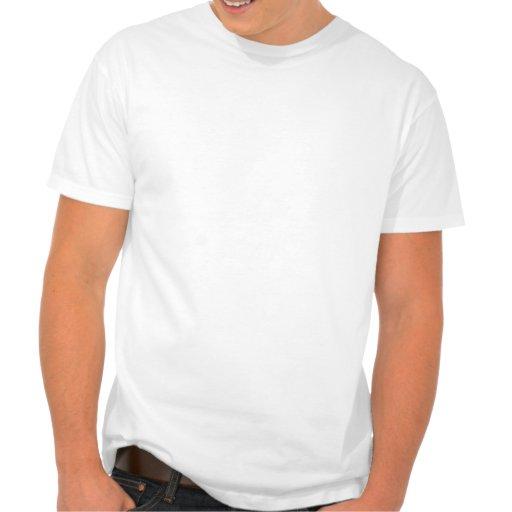 Camiseta anaranjada de la daga (blanca)