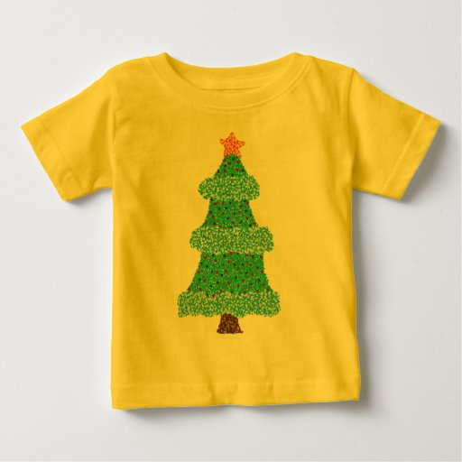 Camiseta anaranjada de la estrella de la guirnalda