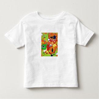 Camiseta anaranjada del agolpamiento