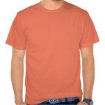 Camiseta anaranjada del cuello barco de la zanahor