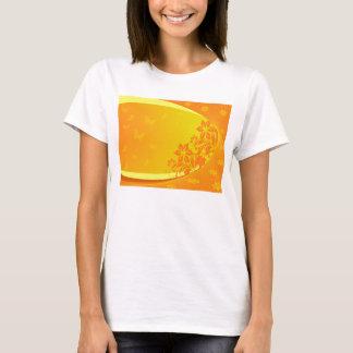 camiseta anaranjada del fondo