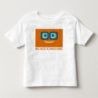 Camiseta anaranjada del niño de la banda de la playera