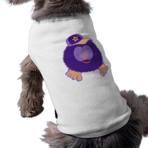 Camiseta anaranjada púrpura del perro de la gorra  playera sin mangas para perro