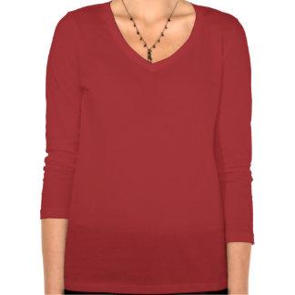 Camiseta andina roja del oso de Sarita para las se Poleras